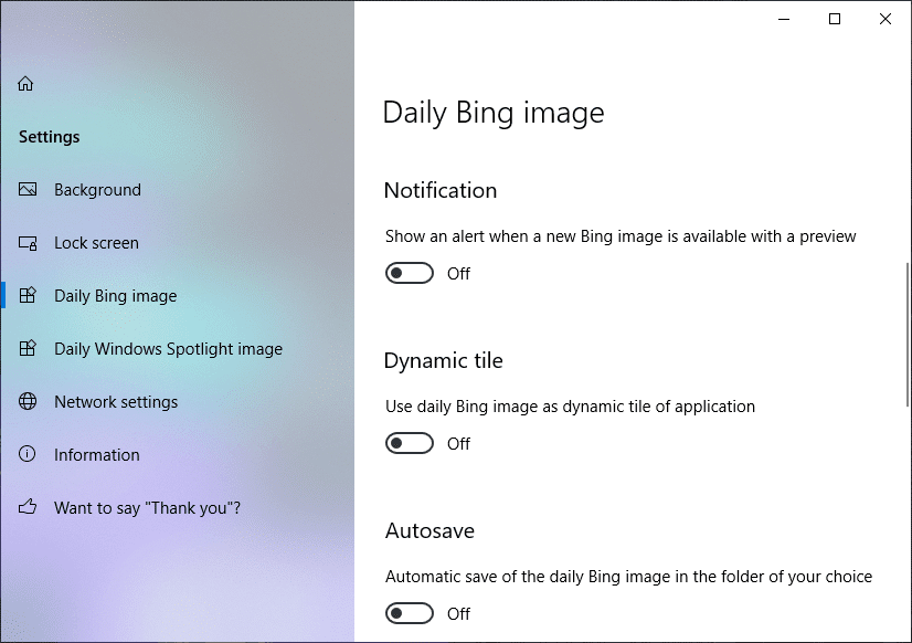 Get notified when new Bing Image is available