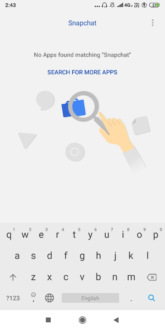 If someone searches for that app, it will not appear in the search results