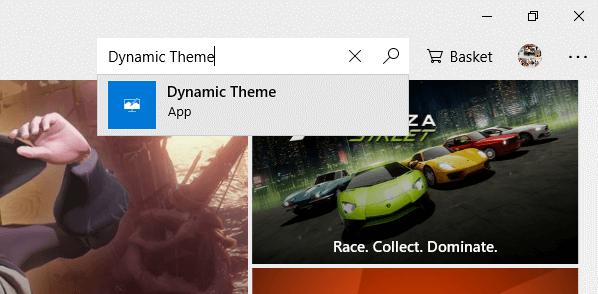 Search for Dynamic Theme app