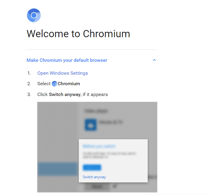 This will start your Chromium browser | Difference Between Google Chrome And Chromium?