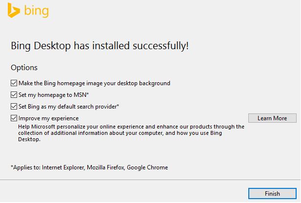 Use Bing Desktop toSet Daily Bing Image as Wallpaper