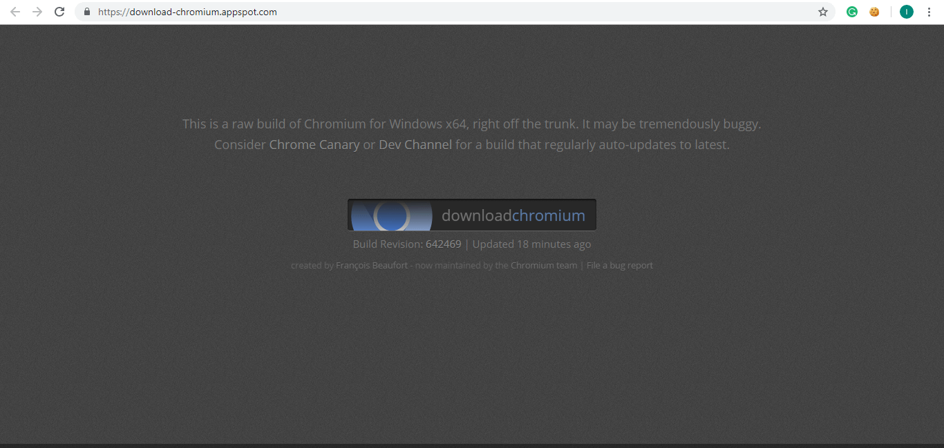 Visit the websites and click on download Chromium | Difference Between Google Chrome And Chromium?