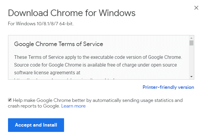 After download, a dialog box will appear | Fix Google Chrome Not Responding