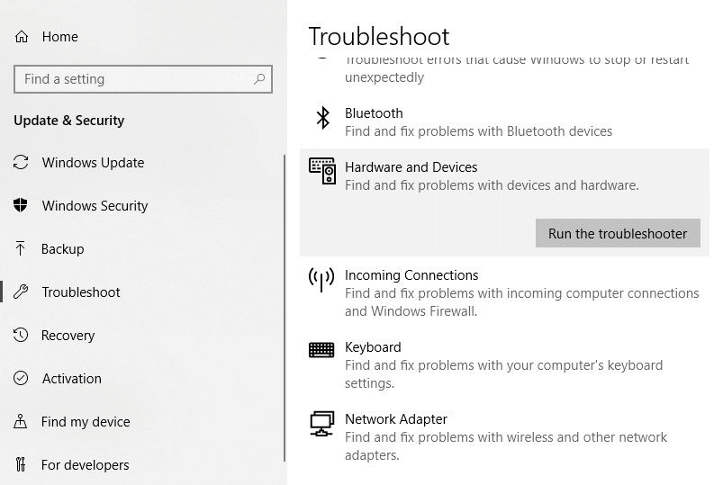 Click on 'Run the troubleshooter' | Fix Application has been blocked from accessing Graphics hardware