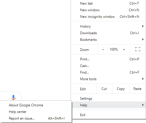 Click on Help button from the menu