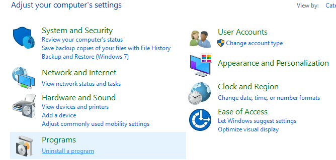 Click on Programs | Fix Computer Shuts Down Randomly