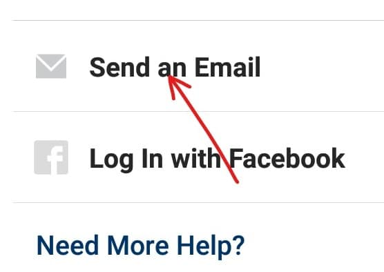 Click on send an email or sms   Reset Instagram Password