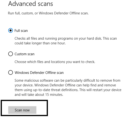 Finally, click on Scan now | Speed Up Your SLOW Computer
