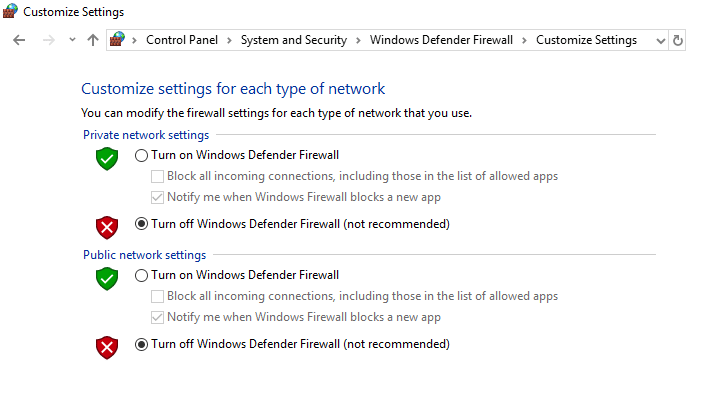How to Disable Windows 10 Firewall to Fix Windows Computer restarts without warning