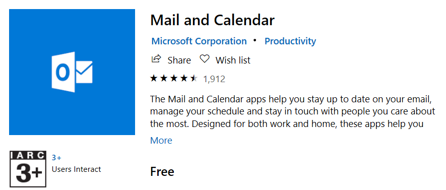 Install Mail and Calendar app from Microsoft Store | Reset Mail App on Windows 10