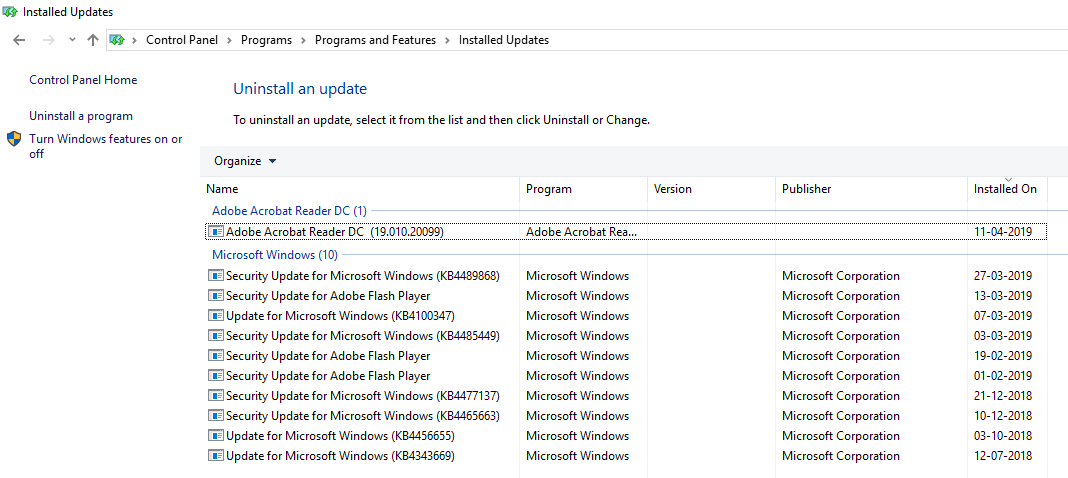 List of currently installed programs | Fix Windows 10 Stuck on Welcome Screen