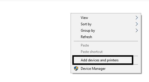 Select Add a Printer option