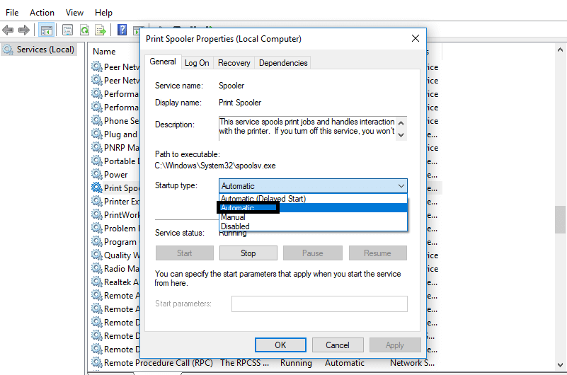 Set to automatic and save the settings