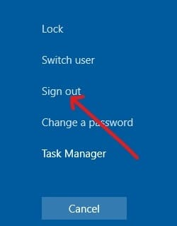 Sign out it and then again sign in   Fix Windows Updates Stuck