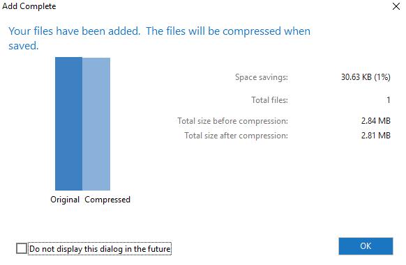 Click on the OK button   7-Zip vs WinZip vs WinRAR (Best File Compression Tool)