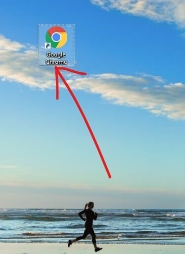Create a shortcut for Google Chrome on your desktop