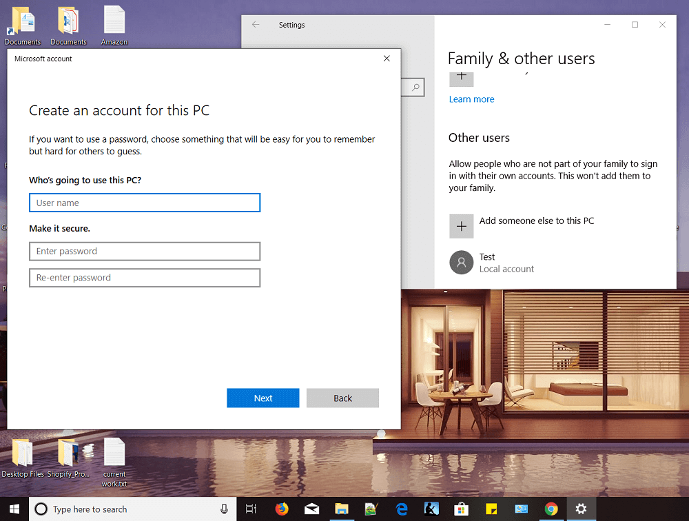 How to Create a Local User Account on Windows 10