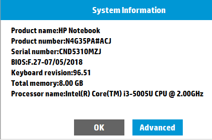 Note down the serial number of your device and click on OK