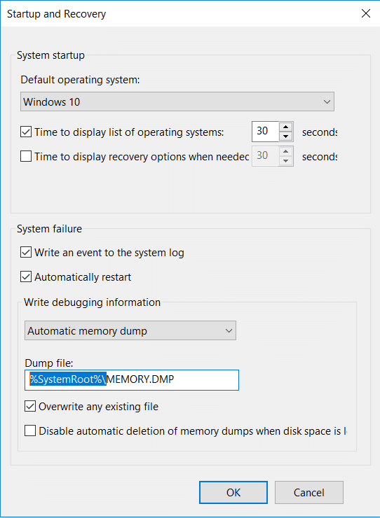 Under Dump file find location where dump file is stored