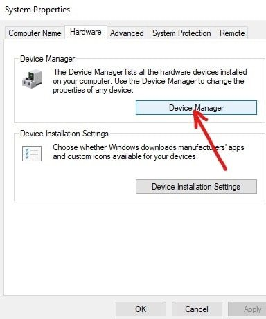 Under Hardware, click on Device Manager | Fix Wireless Router Keeps Disconnecting Or Dropping