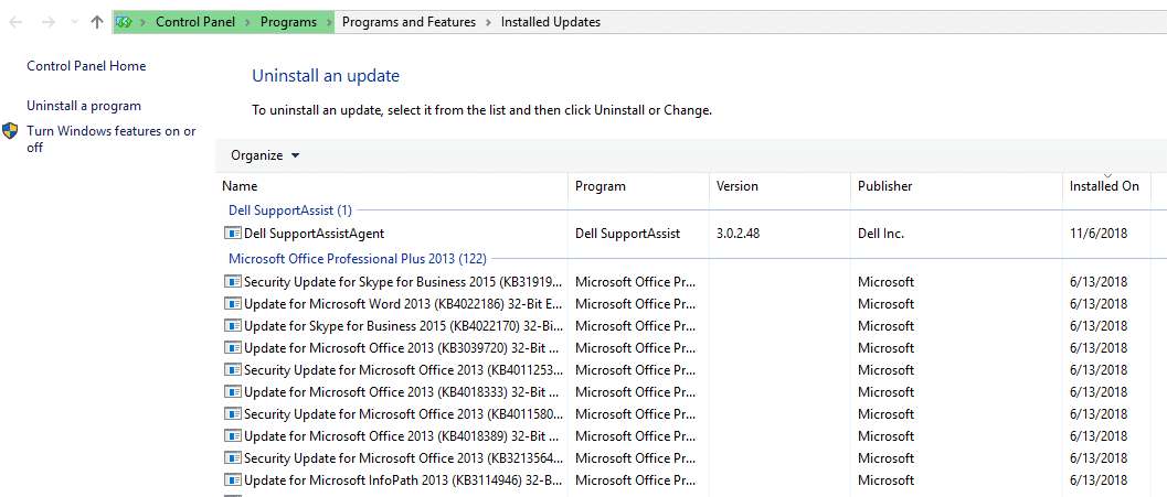 Uninstall all latest updates and reboot the device | Fix Can'tturn on Windows Firewall