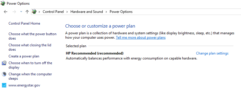 Want to change behavior of PC then click on Choose power options link