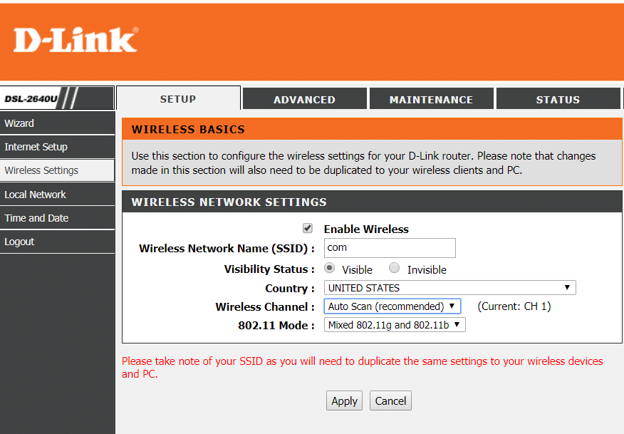 Wireless Settings under Router admin | Fix Wireless Router Keeps Disconnecting Or Dropping