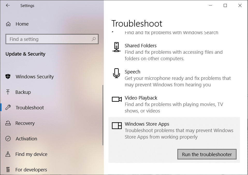 Under Windows Store Apps click on Run the troubleshooter | How To Fix Microsoft Store Slow Download Issue