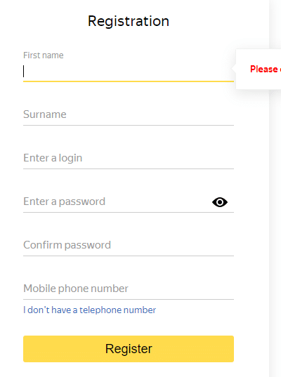 Enter the details like username and password and click on Register