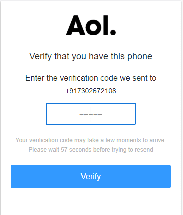 Enter the verification code receive on your registered mobile number and click on verify