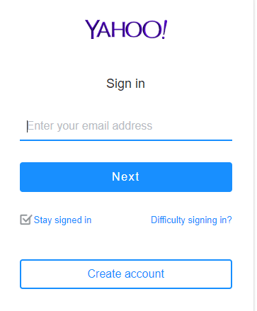 To use created Yahoo account, enter username and password and click on sign-in button