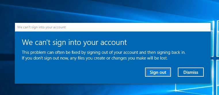 Fix We Can't Sign Into Your Account Error on Windows 10