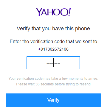 Get a verification code on your registered number and click on verify