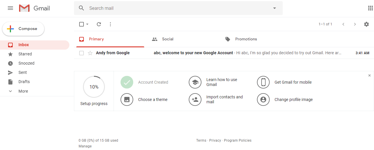 Gmail screen will appear