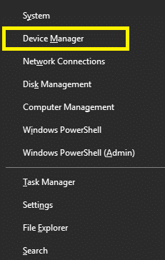 Open Device Manager on your device