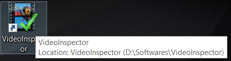 Open VideoInspector by clicking on the icon or search it through the Start menu
