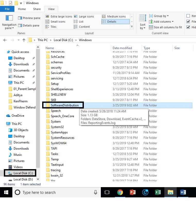 How to Delete SoftwareDistribution folder on Windows 10