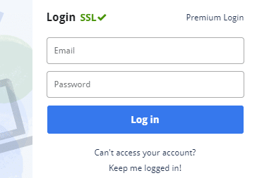 To use created account enter username and password and click on Log in