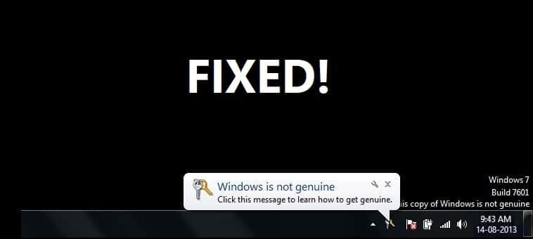Fix This Copy of Windows Is Not Genuine Error