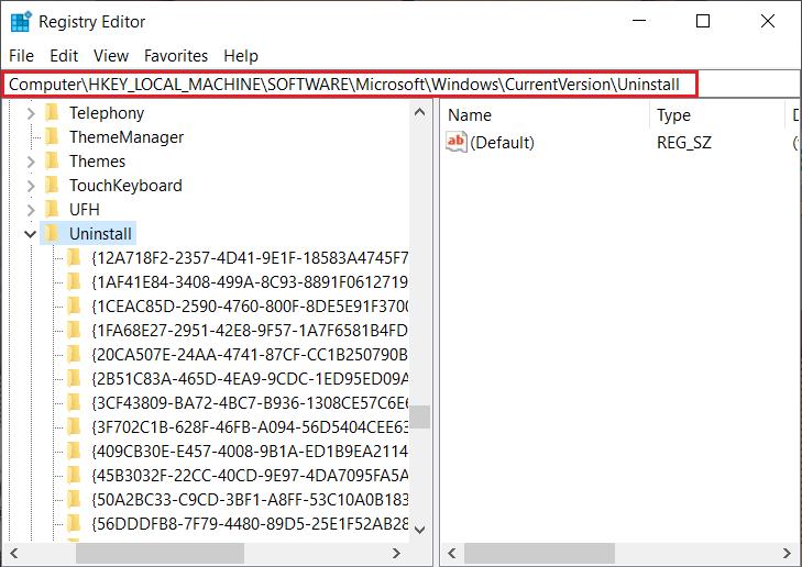 Force Uninstall Program using Registry Editor