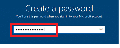 Now asked to insert a password