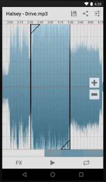 Can playback from any point in the audio with a simple tap and listen to your edited audio