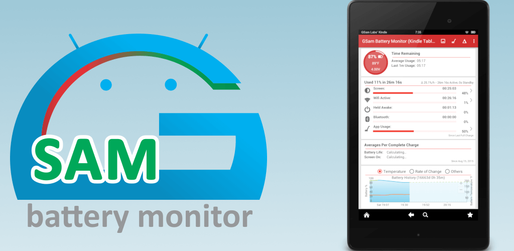 GSam Battery Monitor - Best Battery Saver Apps for Android