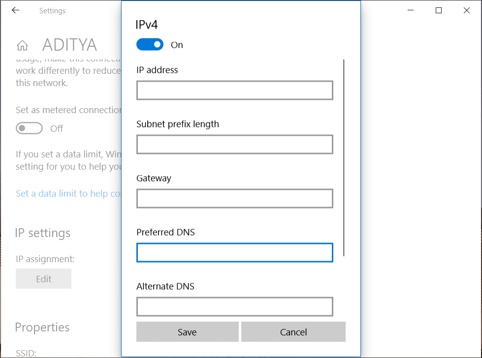 How to change DNS settings in Windows 10