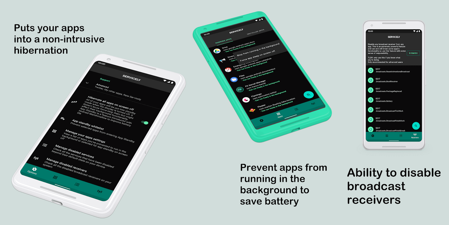 Servicely - Best Battery Saver Apps for Android