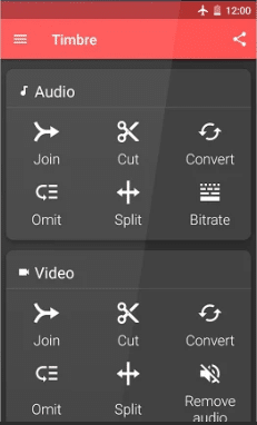 omit certain section of an audio or video, or even change the bitrate of an audio