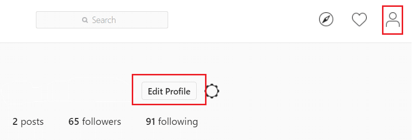 Click on your name then click on Edit Profile button