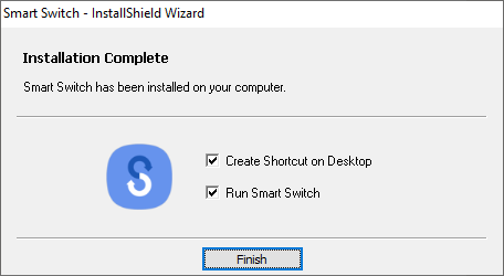 Once the installation process is completed, click on the Finish button