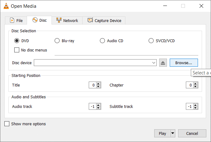 This option will let you play any media file directly from the DVD