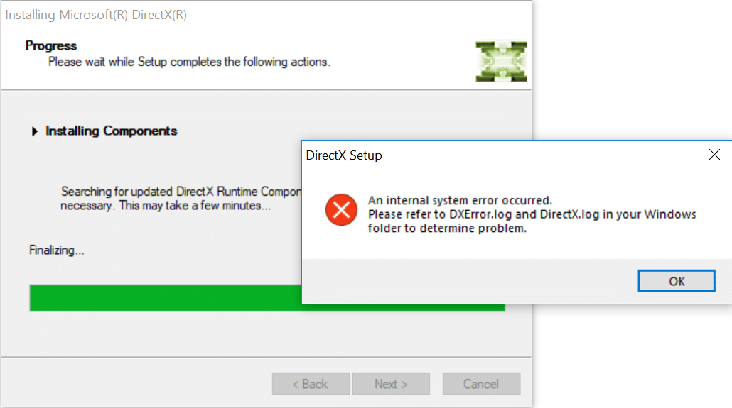 Fix Unable to Install DirectX on Windows 10